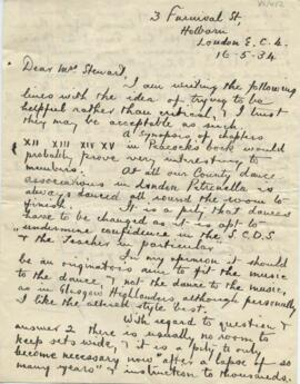 Letter from G Douglas Taylor to Ysobel Stewart
