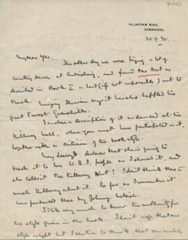 Letter from Archibald Campbell to Yosbel Stewart