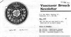 Vancouver Brnch Newsletter (later The White Cockade)