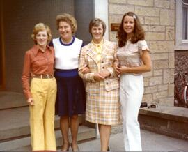 Photograph of: (L to R) Margorie Duffield, Nancy Samuel (pianist); May Dick;; Sheila Thompson - Summer School 1976