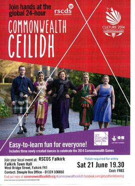 Commonwealth Ceilidh Brochure