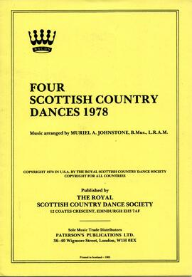 Four Scottish Country Dances 1978 Reprint 1983
