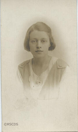 Photograph of Florence Adams as a student