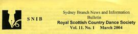 Sydney Branch News and Information Bulletin