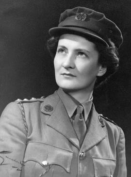 Photographs of Muriel Gibson in Army uniform