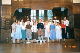 Summer School Group for 24 hour Dance for Reel Aid 5th August, 1989