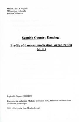 Scottish Country Dancing: Profile of dancers, movivation, organisation