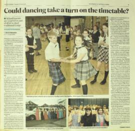 The Scotsman 12 April 2016 Report on Country Dancing in Schools