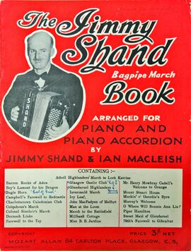 The Jimmy Shand Bagpipe March Book