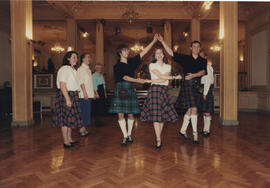 Photograph of a group dancing 'The Triumph'