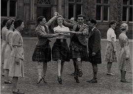 Photograph of dancers dancing 'The Triumph' at Summer School