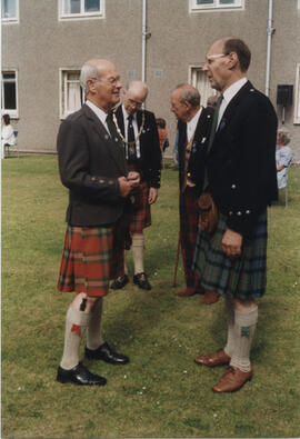 Photograph of Alastair MacFadyen, Bill Clement, Jim Taylor, George Lawson