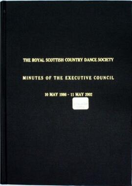Minute book of the Executive Committee of the RSCDS