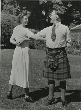 Photograph of Alice McLennan and Bobby Watson