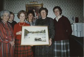 Clackmannanshire- photographs taken at a presentation to Muriel Gibson, by members of Clackmannan...