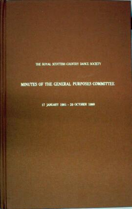 Minute book of the General Purposes Committee of the RSCDS