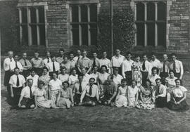 Photograph of a large group taken outside