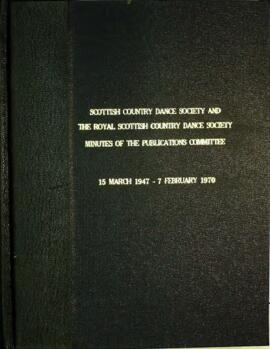 Minute book of the Publications Committee