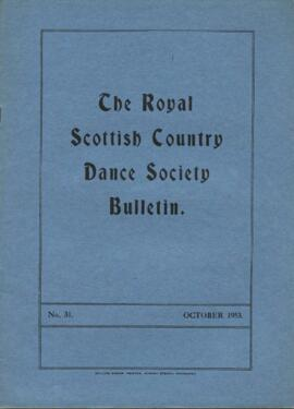 Bulletin No. 31, October 1953