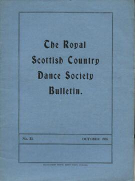 Bulletin No. 33, October 1955
