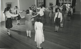 Photographs of an informal evening dance at  Summer School