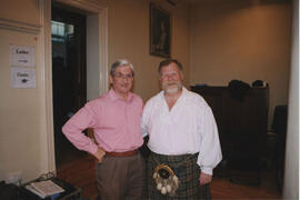 Bristol- photograph of Hugh Ferguson, accordion player & Ron Wallace, teacher taken at Bristol Branch Weekend School 2003