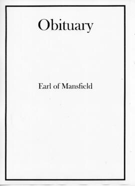 Obituaries for the Earl of Mansfield