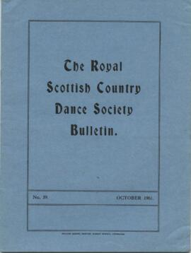 Bulletin No. 39 October 1961