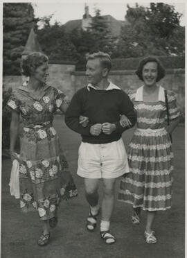 Photograph of Lesley Martin, Bill Ireland, Jean Yeats