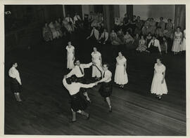 Photograph of the demonstration team performing at Younger Hall.