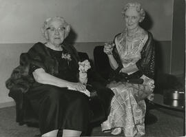 Glasgow- photograph of Jean Milligan and Jennie Waddell at the Glasgow Branch Golden Jubilee Bal