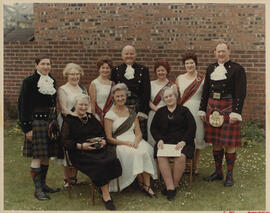 Photograph of members of Ayr branch Leslie Currie and Mrs Currie