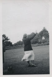 Photograph of Jean Milligan dancing