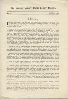 Bulletin No. 17, October 1940