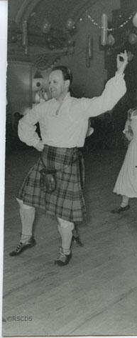 Photograph fragment of Tom Flett dancing