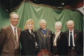 Photographs of Alan Mair, Gill Parker, Lord Mansfield, Linda Gaul & Bill Clement at the AGM, 1998