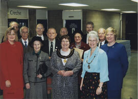 Photograph of Office bearers and past Chairmen at AGM 1999