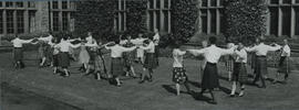 Photograph of dancing outside at Summer School