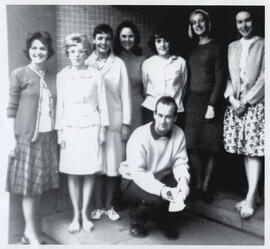 Copy photograph of a group at Summer School