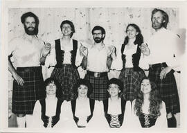 Photograph of Tananger Scottish Country Dance Group demonstration team at an unnamed event