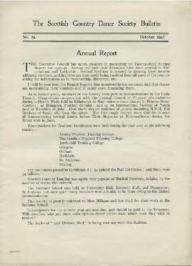 Bulletin No. 24, October 1946