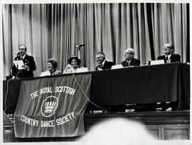 Photograph of the top table and dignitaries at the AGM, 1988