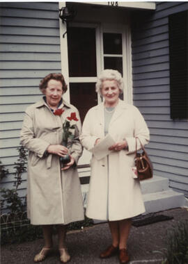 Photograph of Margaret Anderson and Mina Corson