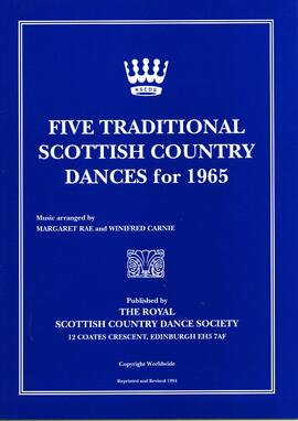 Five Traditional Scottish Country Dances for 1965. Reprinted and revised
