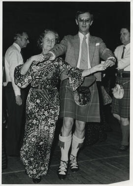 Photograph of Muriel Gibson & Bill Hamilton dancing in promenade hold