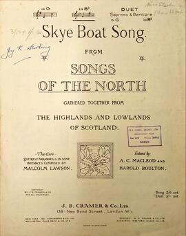 Skye Boat Song, From Songs of the North