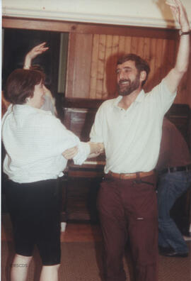 Photograph of Bill Zobel taken in the party room