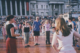 Photograph of members of London Branch taking part in 'The Big Dance'