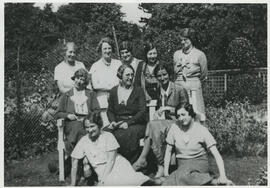 Photograph of a group at St Andrews