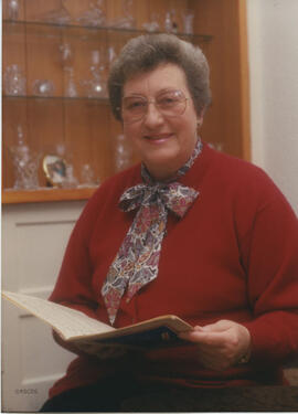 Photograph of Wilma Miller, Chairman of the Society 1991-1994